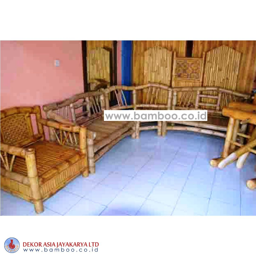 BAMBOO BENCH AND CHAIR SET